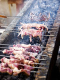 Chinese BBQ. In xinjiang province Royalty Free Stock Photography