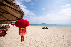 Chinese beach vacation Royalty Free Stock Images