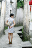 Chinese beauty  girlfriends in cheongsam enjoy free time Stock Images