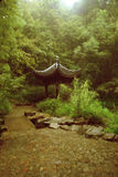 Chinese beauty picture. China's beautiful scenery, green plants and the construction of Chinese constitute a beautiful picture Royalty Free Stock Photos