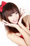 Chinese beauty portrait. Royalty Free Stock Images