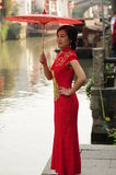 Chinese beauty in Suzhou Royalty Free Stock Photo