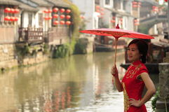 Chinese beauty in Suzhou Stock Photos