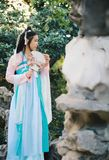 Chinese beauty in traditional ancient drama costume Royalty Free Stock Photo
