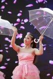 Chinese beauty umbrella dance Royalty Free Stock Photos