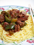 Chinese beef black bean dinner Stock Photography