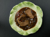 Chinese Beef in Black Bean Sauce Stock Photography