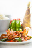 Chinese beef and vegetables Stock Images