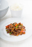 Chinese beef and vegetables Royalty Free Stock Images