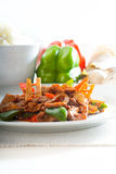 Chinese beef and vegetables Stock Photography