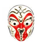 Chinese Beijing opera mask on white background Royalty Free Stock Image