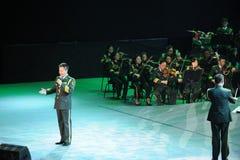 Chinese beroemde mannelijke zanger weiwen-TheFamous Yan en classicconcert Royalty-vrije Stock Foto's