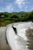 Chinese beroemde toeristen toneelvlek Chongqing East Hot Spring Waterfall Stock Fotografie