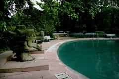 Chinese beroemde toeristen toneelvlek Chongqing East Hot Springs Spa hemel Stock Foto's