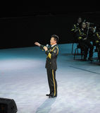 Chinese beroemde volkszanger hongwei-TheFamous Wang en classicconcert Royalty-vrije Stock Foto's