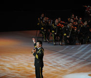Chinese beroemde volkszanger hongwei-TheFamous Wang en classicconcert Stock Foto's