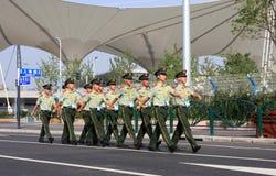 Chinese-bewaffnete Polizei-Ausstellung Stockfotos