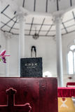 Chinese Bible on the table in the church. royalty free stock photography