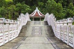Chinese bidge and pavilion Stock Photo
