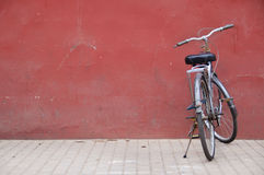 Chinese bike outside the Forbidden City, Beijing Stock Photos