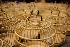 Chinese birdcage. Some chinese birdcage be made from bamboo Royalty Free Stock Photography