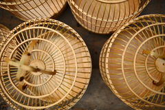 Chinese birdcage. Some chinese birdcage be made from bamboo Royalty Free Stock Images