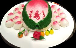 Chinese Birthday Cake Stock Image