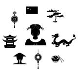 The chinese black Stock Images