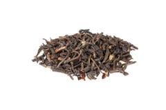Chinese black tea isolated on white background Royalty Free Stock Photo
