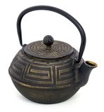 Chinese black teapot isolated over the white background Royalty Free Stock Images