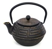 Chinese black teapot isolated over the white background Stock Image