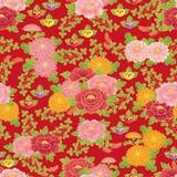 Chinese bloemenachtergrond Stock Afbeelding
