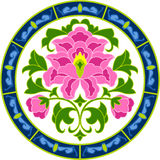 Chinese Blossom. In vector style Royalty Free Stock Photo