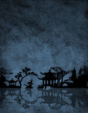 Chinese Blue royalty free illustration