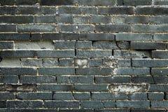 Chinese blue bricks wall Stock Photo