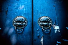 Door knockers in the temple of heaven in beijing Royalty Free Stock Photo