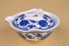 Chinese blue Painting tea ware Stock Photos