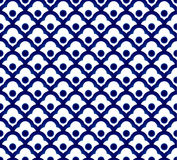 Chinese blue pattern Stock Photography