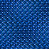 Chinese blue seamless pattern dragon fish scales simple seamless pattern Nature background with japanese wave circle pattern vecto. R art Royalty Free Stock Photos