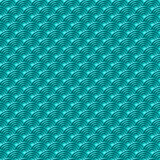 Chinese blue seamless pattern dragon fish scales simple seamless pattern Nature background with japanese wave circle pattern vecto. R art Stock Image