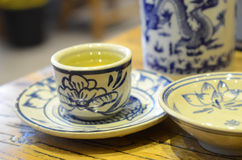 Chinese blue and white porcelain Royalty Free Stock Photo