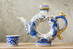 Chinese blue and white ware Stock Photos