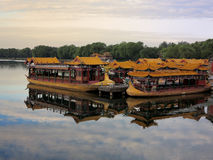 Chinese Boat In Summer Palace lake,China,Beijing Stock Photography