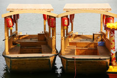 Chinese boats Royalty Free Stock Photography