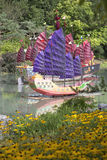 Chinese Boats - Montreal Botanical Garden Stock Photos