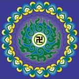 Chinese boeddhismepatroon en totem Royalty-vrije Stock Afbeelding