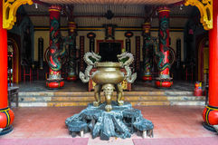 Chinese Boeddhistische tempel in Malang, Indonesië Royalty-vrije Stock Foto's