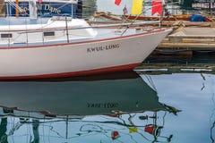 Chinese Boot bij Dok royalty-vrije stock foto