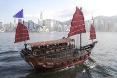 Chinese Boot op de Haven van Victoria Royalty-vrije Stock Foto