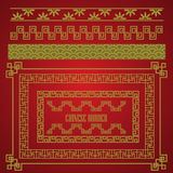 Chinese border set, vector Royalty Free Stock Photography